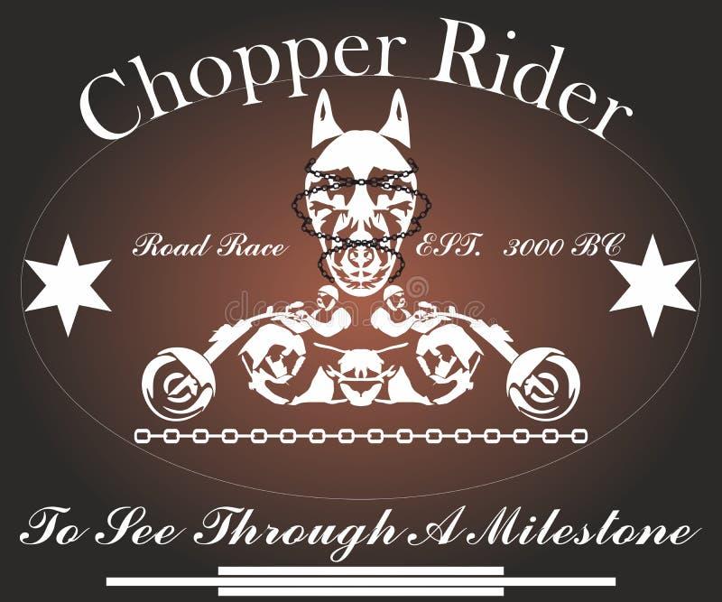 Chopper Rider, Grafikdesign für Hemd lizenzfreie abbildung
