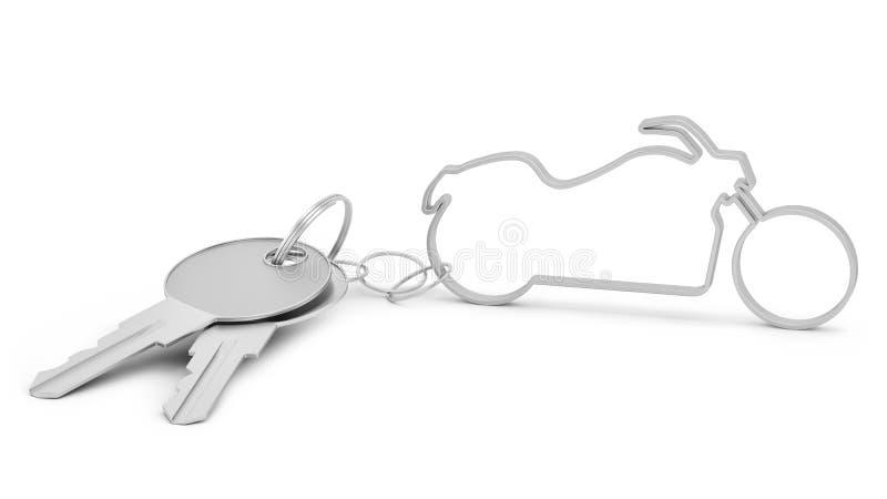 Chopper Shaped Keychain Royalty Free Stock Image