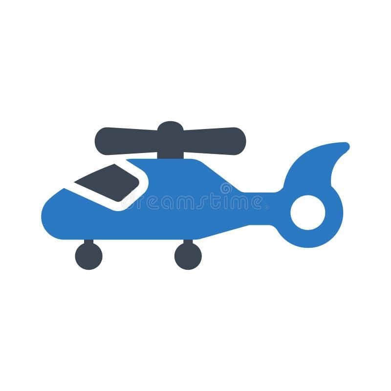 Chopper glyph colour vector icon stock illustration