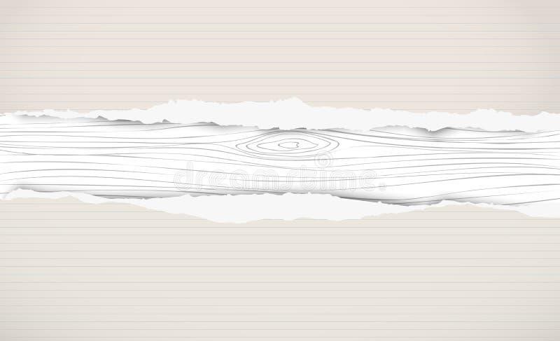 Download Choppin De Madeira Branco, Placa De Corte, Prancha Com Papel Alinhado Rasgado Do Caderno Ilustração do Vetor - Ilustração de caderno, superfície: 107526199