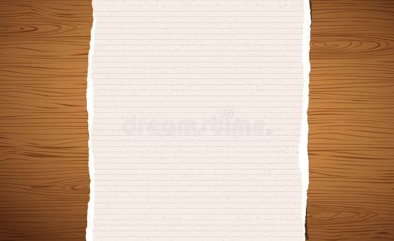 Download Choppin De Madeira De Brown, Placa De Corte, Prancha Com Papel Alinhado Rasgado Do Caderno Ilustração do Vetor - Ilustração de rasgado, madeira: 107526225