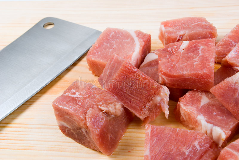 Chopping of meaton royalty free stock photography