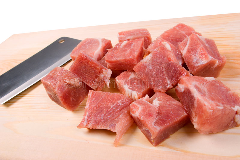 Chopping of meaton stock photo