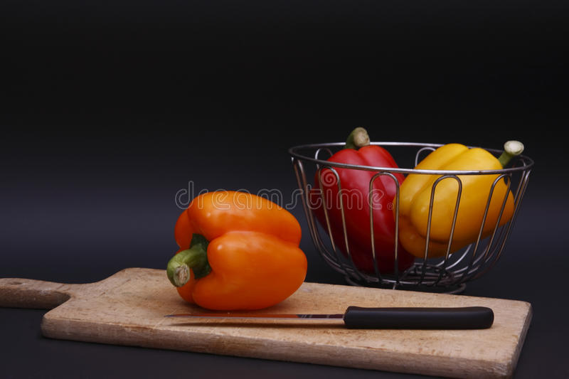 Download Chopping peppers stock image. Image of vegetable, color - 9976719