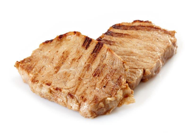 chops зажгли свинину стоковые изображения rf