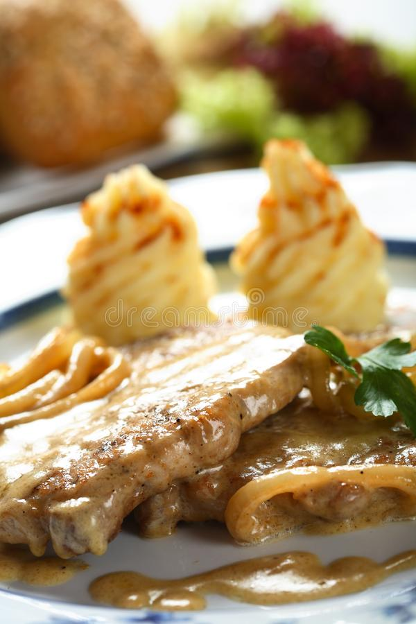 Chops with dressing stock images