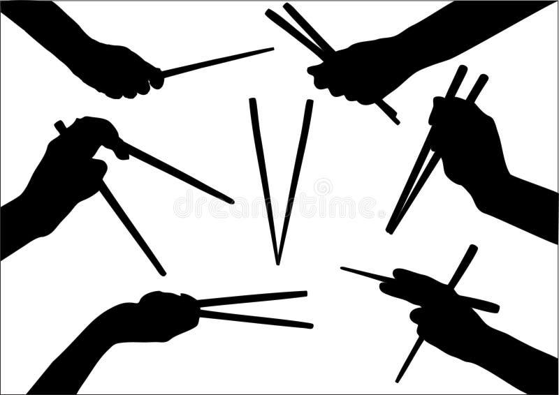 Chopstick royalty free illustration