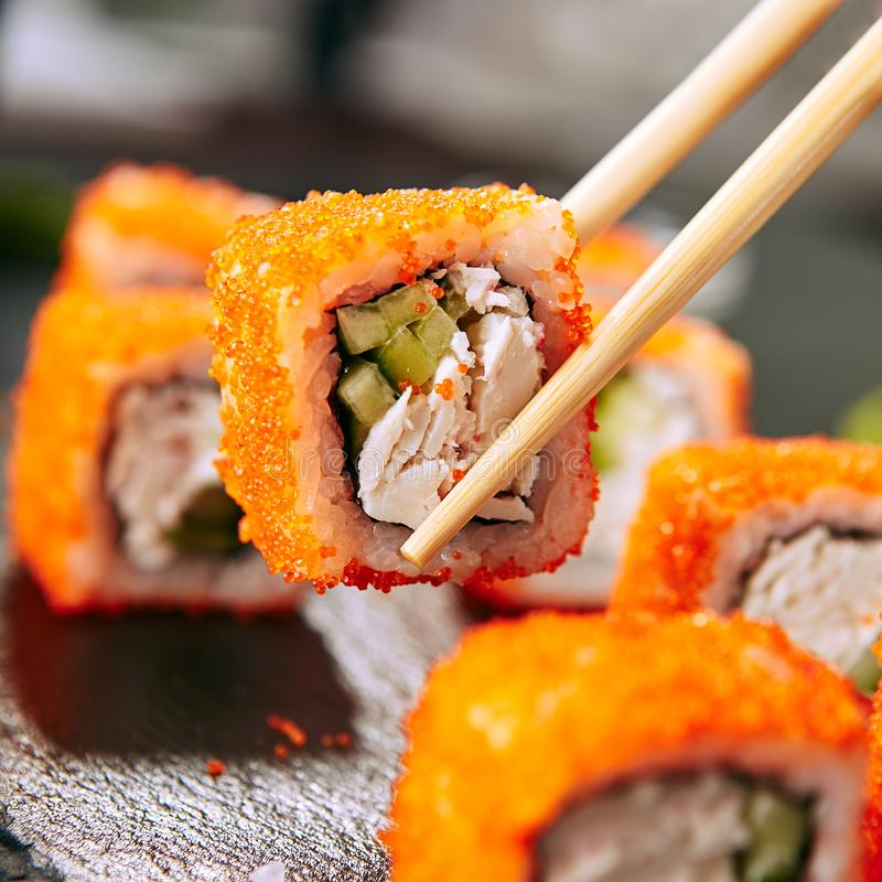 Japanese Sushi Roll royalty free stock image