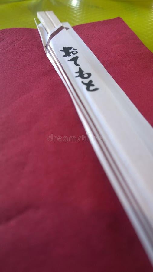 chopsticks ιαπωνικά στοκ εικόνα