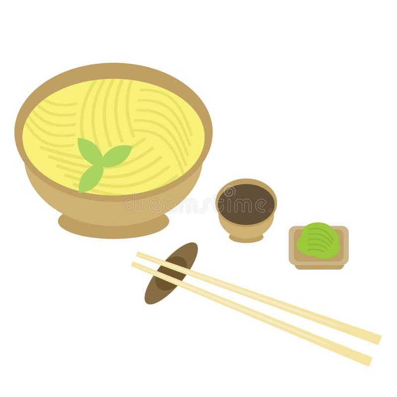 chopsticks ιαπωνικό noodle απεικόνιση αποθεμάτων