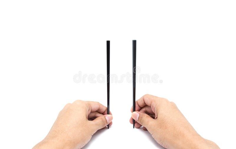 chopsticks μιας χεριών λαβής στοκ φωτογραφία με δικαίωμα ελεύθερης χρήσης