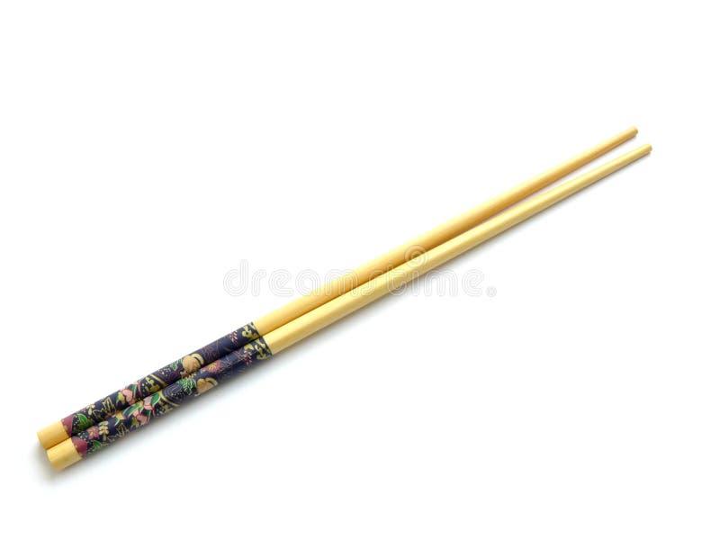 chopsticks που απομονώνονται πέρα από το λευκό στοκ εικόνα