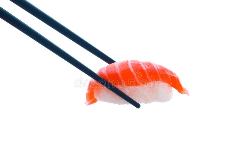 chopsticks σούσια στοκ εικόνα