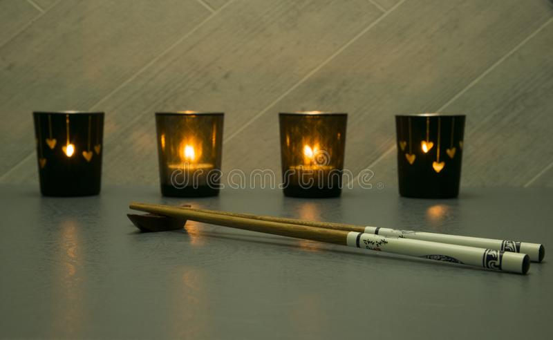 Chopsticks των ιαπωνικών ή ραχών στοκ φωτογραφία με δικαίωμα ελεύθερης χρήσης