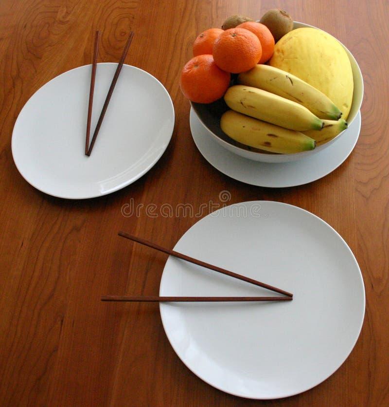 Download Chopsticks stock image. Image of plate, dinner, banana - 102597