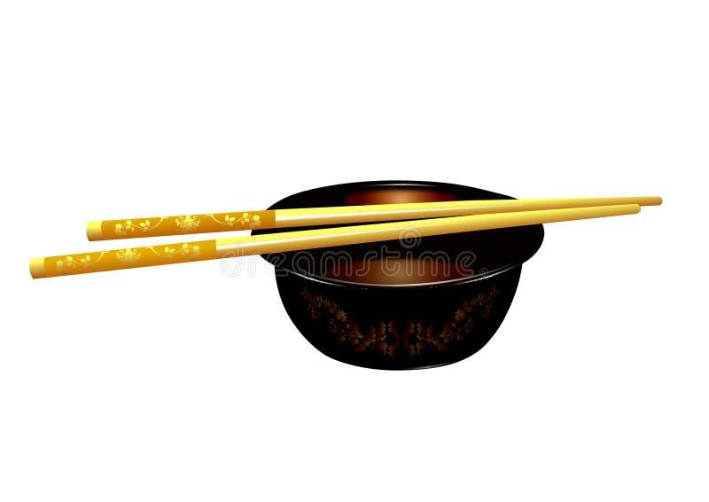 chopsticks obrazy royalty free