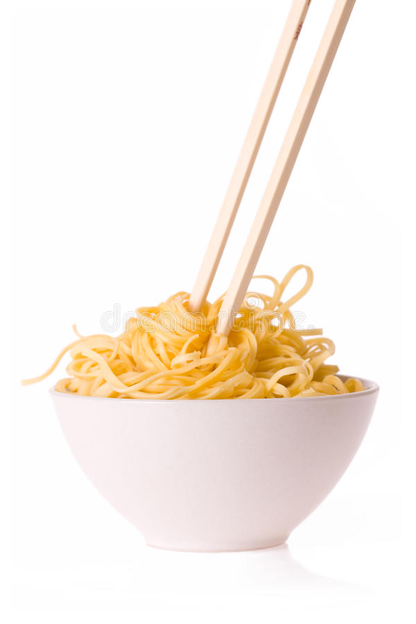 Free Chopsticks, Bowl And Noodles Royalty Free Stock Image - 10614316