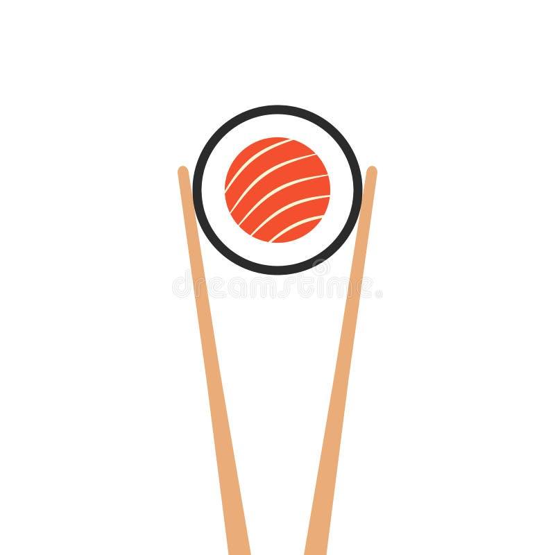 Free Chopsticks Holding Sushi Roll Royalty Free Stock Photos - 85775168