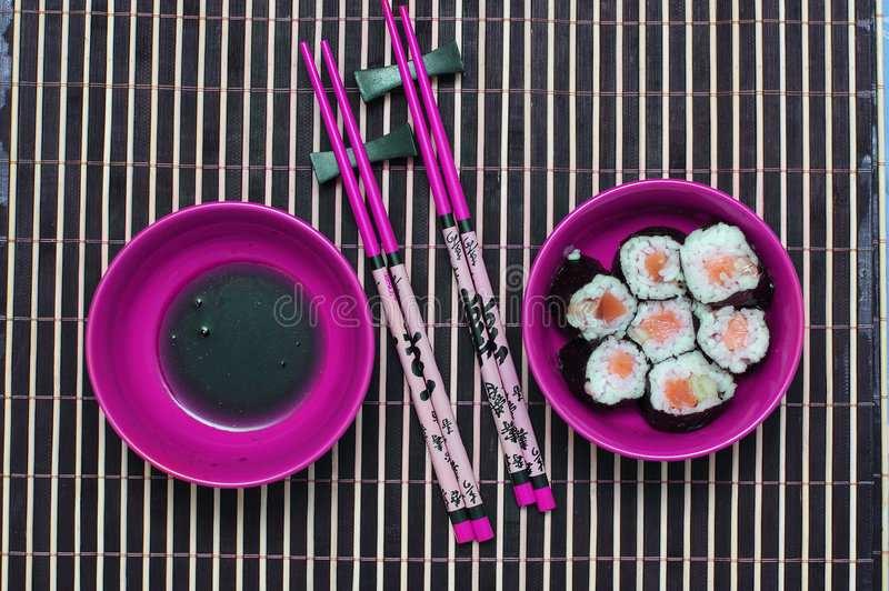 Chopsticks i sishi. zdjęcia royalty free
