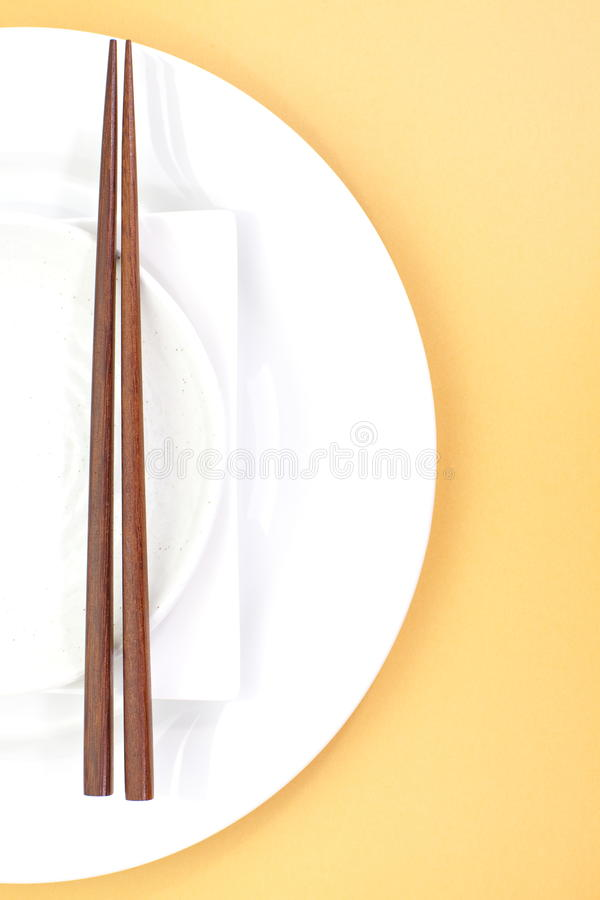 Free Chopsticks In Asian Set Table Royalty Free Stock Image - 33054406