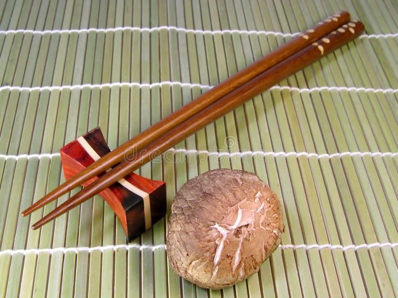 Chopsticks And Mushroom Free Stock Image