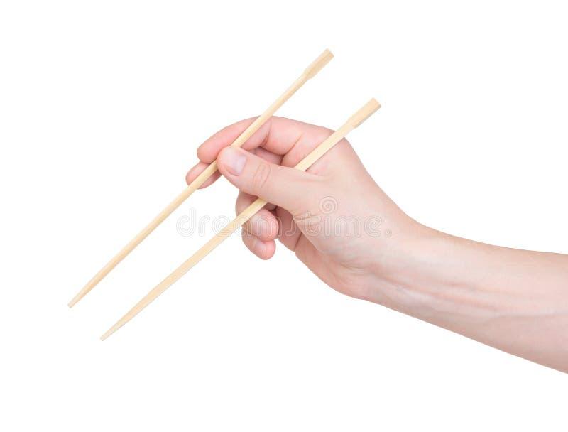 chopsticks ręka obraz royalty free