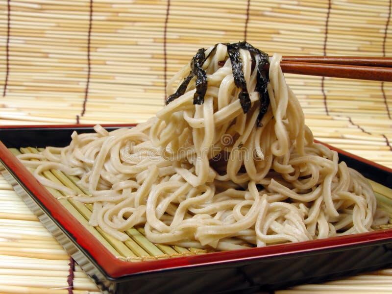 chopsticks soba στοκ εικόνα