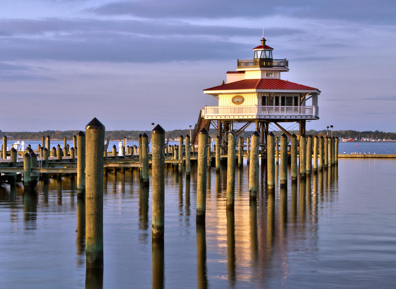 Choptank River Lighthouse At Sunset Editorial Image