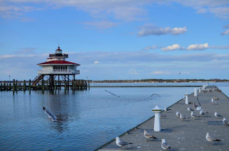 Choptank Rzeczna latarnia morska w Cambridge Maryland obraz stock