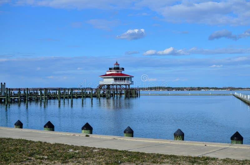 Choptank Rzeczna latarnia morska w Cambridge Maryland fotografia royalty free