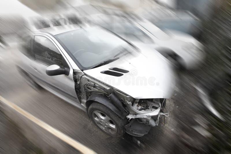 Choque de carro fotos de stock