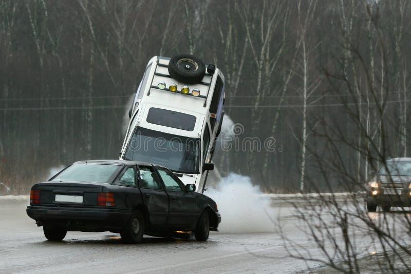 Choque de coche imágenes de archivo libres de regalías