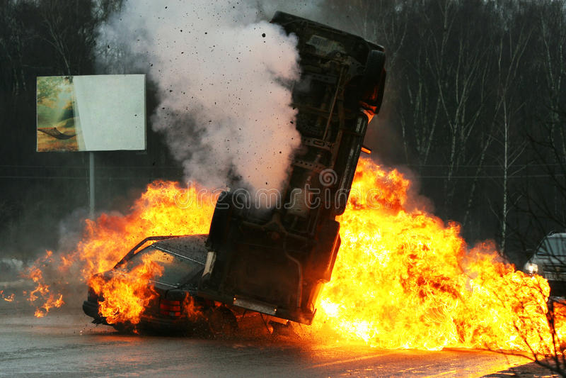 Choque de coche fotos de archivo libres de regalías