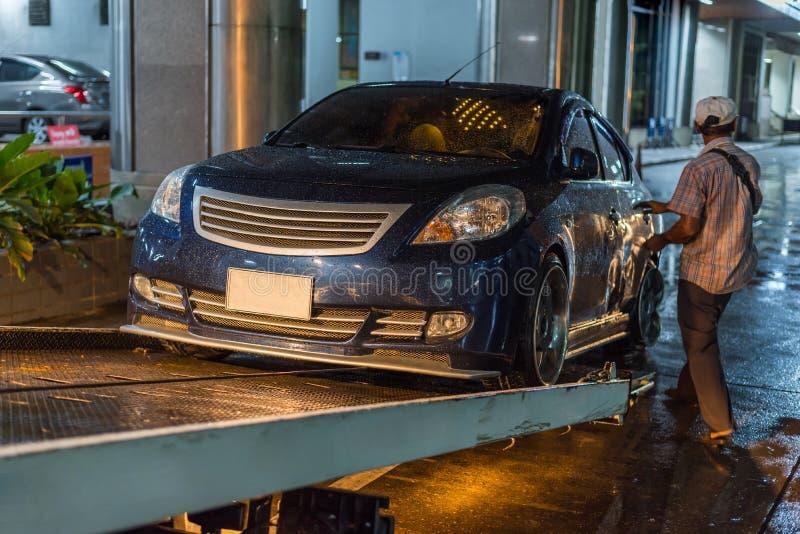 Choque de coche del accidente de tráfico en el camino imagen de archivo libre de regalías