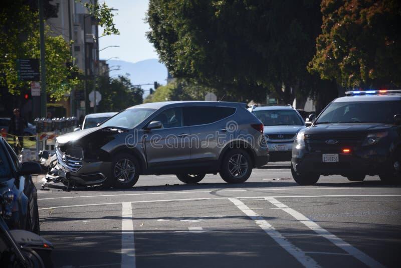 Choque de coche en Oakland California imagenes de archivo