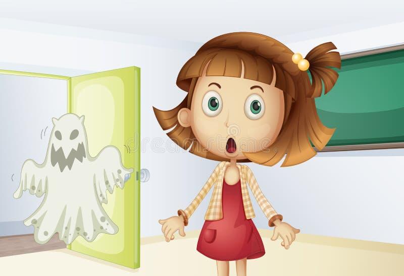 Choque do fantasma ilustração do vetor