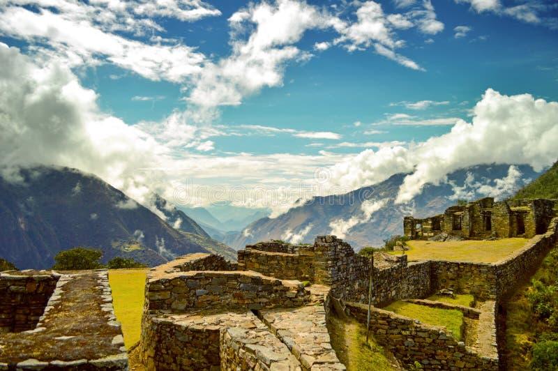 Choquequirao, the hidden temple royalty free stock photos