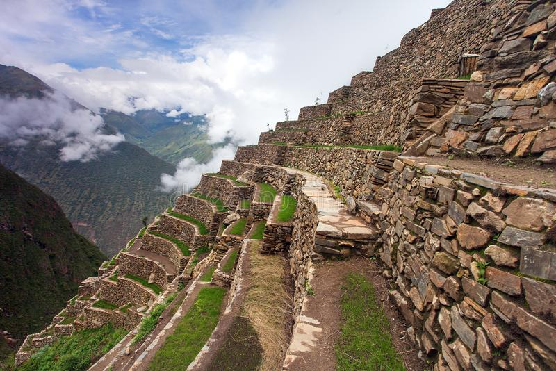 Choquequirao, one of the best Inca ruins in Peru stock photos