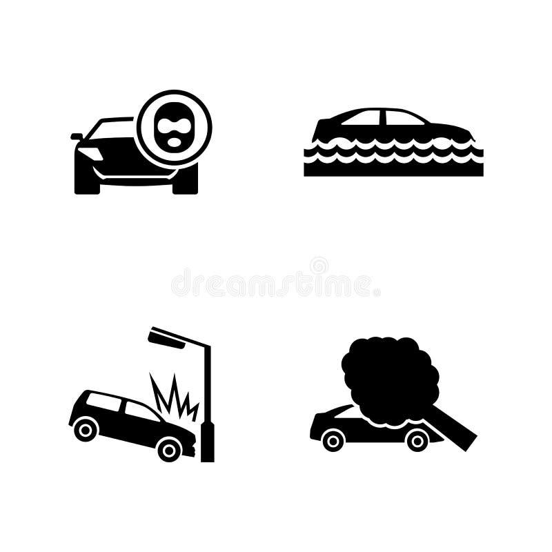 Choques de coche Iconos relacionados simples del vector libre illustration