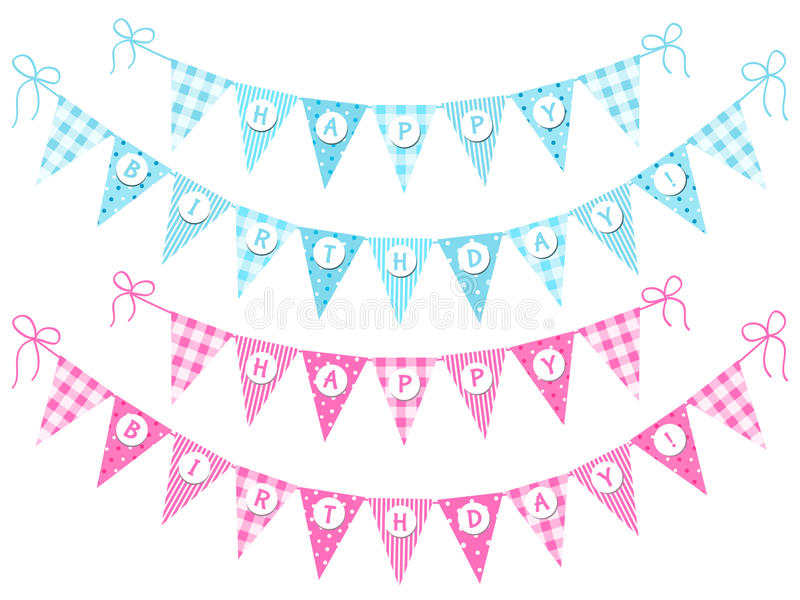 Chorągiewka zaznacza wszystkiego najlepszego z okazji urodzin zdjęcie royalty free