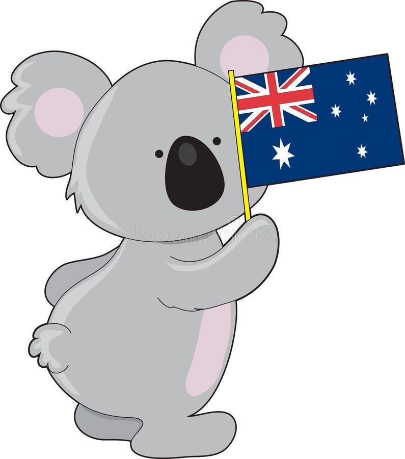 chorągwiana Australijczyk koala ilustracja wektor