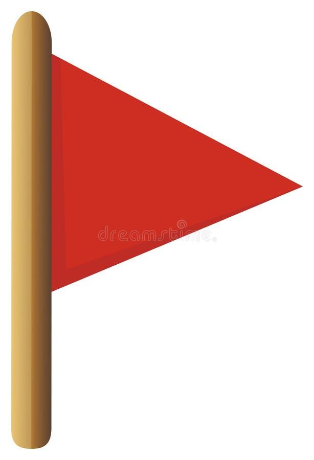 chorągwiana czerwień ilustracja wektor