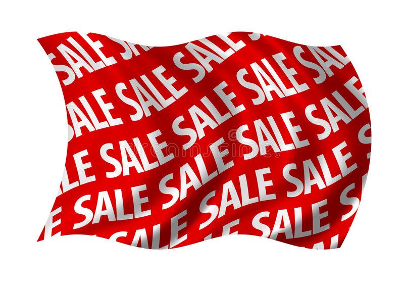 chorągwiana czerwona sprzedaż royalty ilustracja