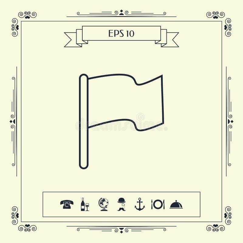 Chorągwiana liniowa ikona royalty ilustracja