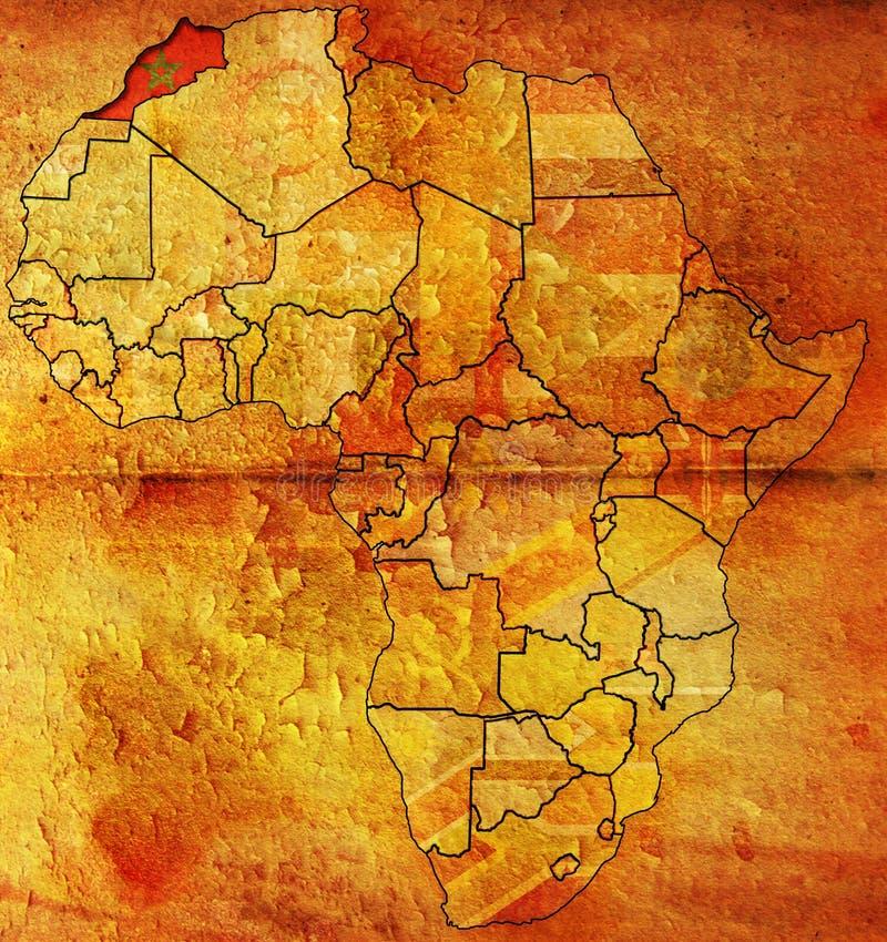 chorągwiana mapa Morocco stary