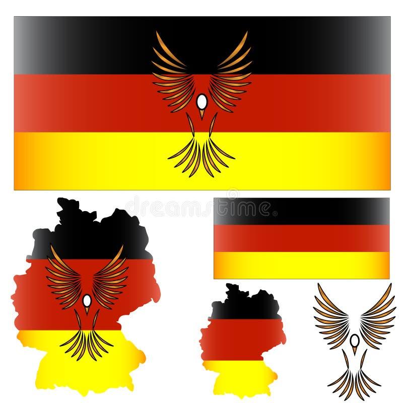 chorągwiana ptak niemiec royalty ilustracja