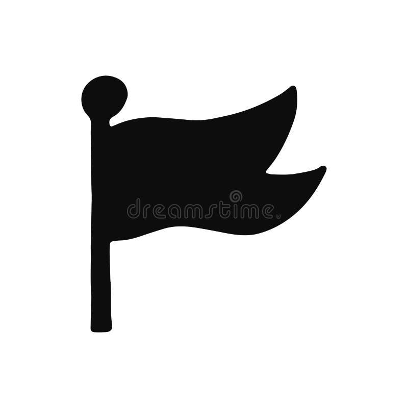 Chorągwiana sylwetka wektoru ikona Odosobniony przedmiot obraz stock