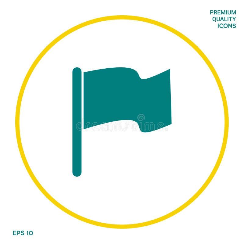 Chorągwiana symbol ikona Graficzni elementy dla twój projekta ilustracja wektor