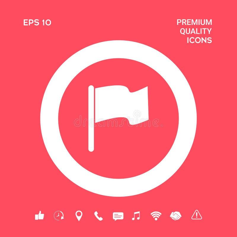 Chorągwiana symbol ikona Graficzni elementy dla twój projekta ilustracji