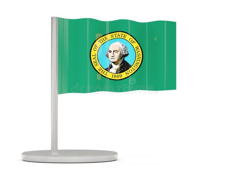 Chorągwiana szpilka z flaga Washington Zlane stanu miejscowego flaga ilustracji